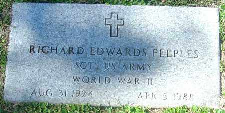 PEEPLES, RICHARD EDWARDS - Franklin County, Ohio | RICHARD EDWARDS PEEPLES - Ohio Gravestone Photos