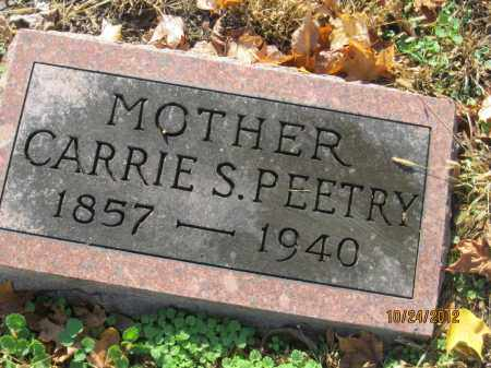 KREUTZER PEETRY, CARRIE S - Franklin County, Ohio | CARRIE S KREUTZER PEETRY - Ohio Gravestone Photos