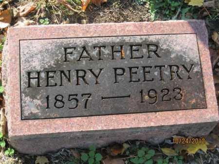 PEETRY, HENRY - Franklin County, Ohio | HENRY PEETRY - Ohio Gravestone Photos
