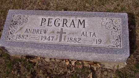 PEGRAM, ALTA - Franklin County, Ohio | ALTA PEGRAM - Ohio Gravestone Photos
