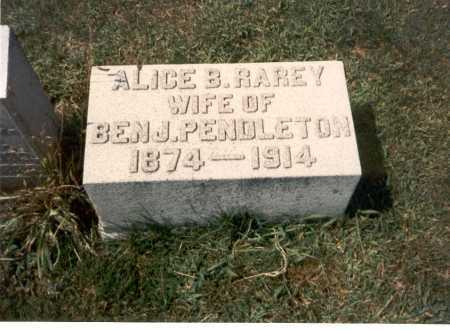 RAREY PENDLETON, ALICE B. - Franklin County, Ohio | ALICE B. RAREY PENDLETON - Ohio Gravestone Photos
