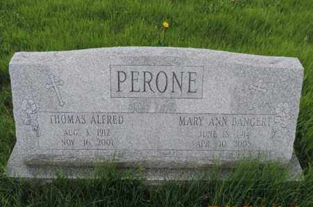 BANGERT PERONE, MARY ANN - Franklin County, Ohio | MARY ANN BANGERT PERONE - Ohio Gravestone Photos