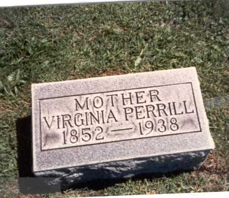 SMITH PERRILL, VIRGINIA - Franklin County, Ohio | VIRGINIA SMITH PERRILL - Ohio Gravestone Photos