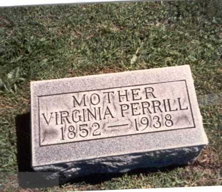 PERRILL, VIRGINIA - Franklin County, Ohio | VIRGINIA PERRILL - Ohio Gravestone Photos