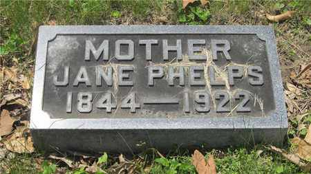 PHELPS, JANE - Franklin County, Ohio | JANE PHELPS - Ohio Gravestone Photos