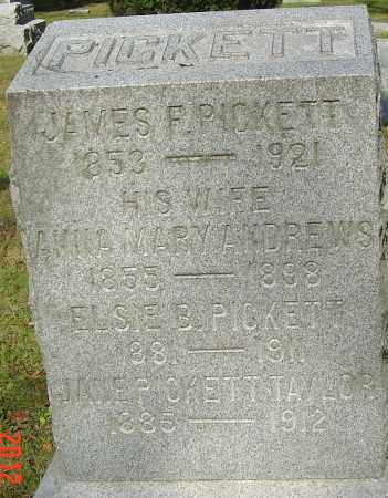 PICKETT, JAMES FRANKLIN - Franklin County, Ohio | JAMES FRANKLIN PICKETT - Ohio Gravestone Photos