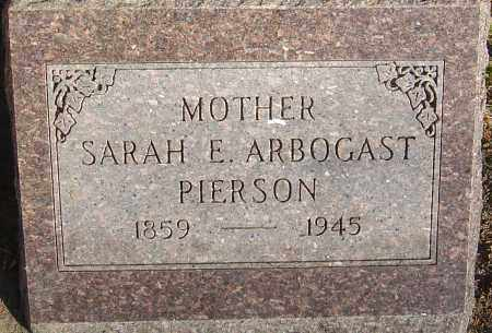 PIERSON, SARAH E - Franklin County, Ohio | SARAH E PIERSON - Ohio Gravestone Photos