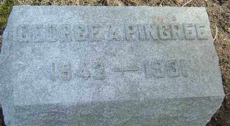 PINGREE, GEORGE A - Franklin County, Ohio | GEORGE A PINGREE - Ohio Gravestone Photos
