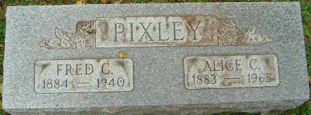PIXLEY, FRED C - Franklin County, Ohio | FRED C PIXLEY - Ohio Gravestone Photos