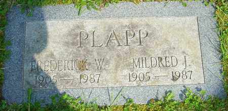 PLAPP, MILDRED J - Franklin County, Ohio | MILDRED J PLAPP - Ohio Gravestone Photos