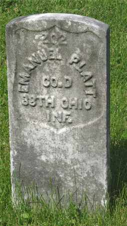 PLATT, EMANUEL - Franklin County, Ohio | EMANUEL PLATT - Ohio Gravestone Photos