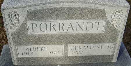 POKRANDT, ALBERT E - Franklin County, Ohio | ALBERT E POKRANDT - Ohio Gravestone Photos