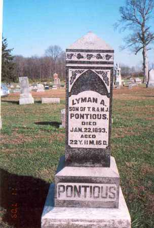 PONTIOUS, LYMAN A. - Franklin County, Ohio | LYMAN A. PONTIOUS - Ohio Gravestone Photos