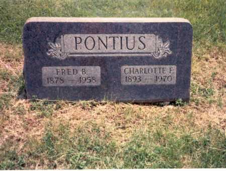 PONTIUS, FRED - Franklin County, Ohio | FRED PONTIUS - Ohio Gravestone Photos