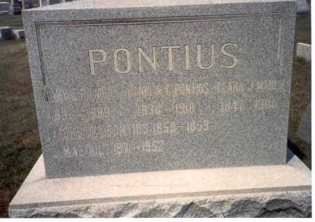 PONTIUS, MARY - Franklin County, Ohio | MARY PONTIUS - Ohio Gravestone Photos