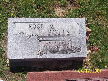POTTS, ROSE M - Franklin County, Ohio | ROSE M POTTS - Ohio Gravestone Photos