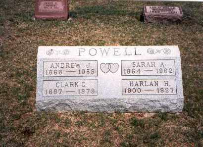 POWELL, ANDREW J. - Franklin County, Ohio | ANDREW J. POWELL - Ohio Gravestone Photos