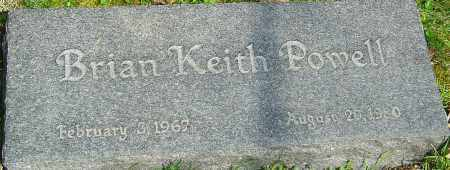 POWELL, BRIAN KEITH - Franklin County, Ohio | BRIAN KEITH POWELL - Ohio Gravestone Photos