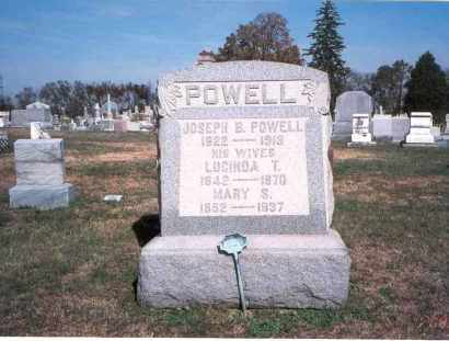 POWELL, LUCINDA T. - Franklin County, Ohio | LUCINDA T. POWELL - Ohio Gravestone Photos
