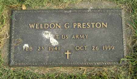 PRESTON, WELDON G. - Franklin County, Ohio | WELDON G. PRESTON - Ohio Gravestone Photos