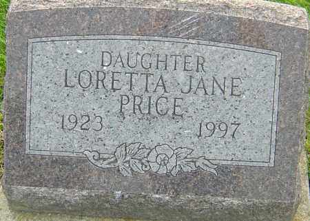 PRICE, LORETTA JANE - Franklin County, Ohio | LORETTA JANE PRICE - Ohio Gravestone Photos
