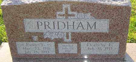 PRIDHAM, EVAN T - Franklin County, Ohio | EVAN T PRIDHAM - Ohio Gravestone Photos