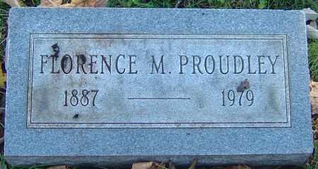 PROUDLEY, FLORENCE M - Franklin County, Ohio | FLORENCE M PROUDLEY - Ohio Gravestone Photos