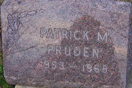 PRUDEN, PATRICK - Franklin County, Ohio | PATRICK PRUDEN - Ohio Gravestone Photos
