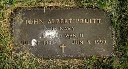 PRUITT, JOHN ALBERT - Franklin County, Ohio | JOHN ALBERT PRUITT - Ohio Gravestone Photos