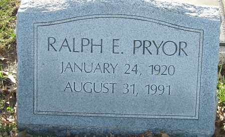PRYOR, RALPH E - Franklin County, Ohio | RALPH E PRYOR - Ohio Gravestone Photos