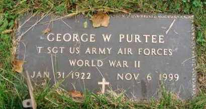 PURTEE, GEORGE W. - Franklin County, Ohio | GEORGE W. PURTEE - Ohio Gravestone Photos
