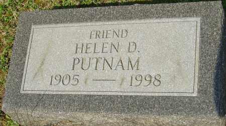 PUTNAM, HELEN D - Franklin County, Ohio | HELEN D PUTNAM - Ohio Gravestone Photos