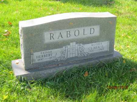 RABOLD, CLARA LEE MORRISON - Franklin County, Ohio | CLARA LEE MORRISON RABOLD - Ohio Gravestone Photos