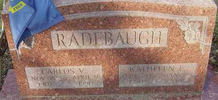 RADEBAUGH, CARLOS V - Franklin County, Ohio | CARLOS V RADEBAUGH - Ohio Gravestone Photos