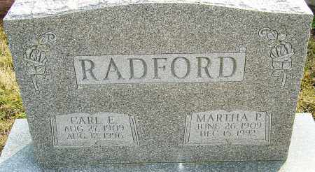 RADFORD, MARTHA P - Franklin County, Ohio | MARTHA P RADFORD - Ohio Gravestone Photos