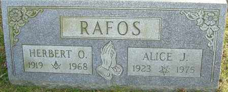 RAFOS, ALICE J - Franklin County, Ohio | ALICE J RAFOS - Ohio Gravestone Photos