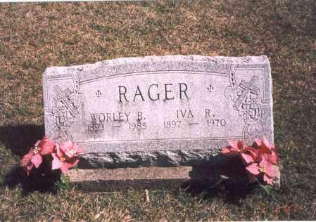 RAGER, WORLEY B. - Franklin County, Ohio | WORLEY B. RAGER - Ohio Gravestone Photos