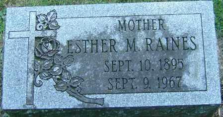 RAINES, ESTHER M - Franklin County, Ohio | ESTHER M RAINES - Ohio Gravestone Photos