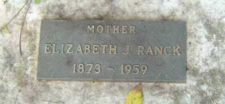 RANCK, ELIZABETH J - Franklin County, Ohio | ELIZABETH J RANCK - Ohio Gravestone Photos