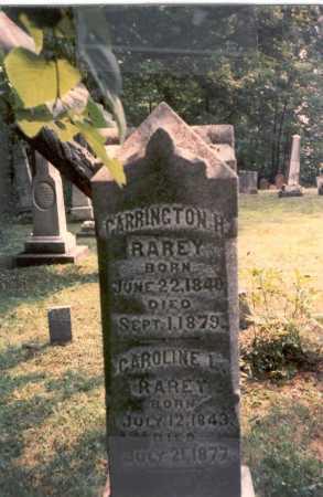 RAREY, CARRINGTON H. - Franklin County, Ohio | CARRINGTON H. RAREY - Ohio Gravestone Photos