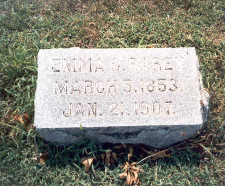 RAREY, EMMA S. - Franklin County, Ohio | EMMA S. RAREY - Ohio Gravestone Photos