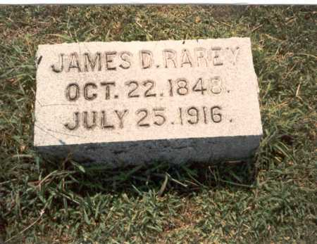 RAREY, JAMES D. - Franklin County, Ohio | JAMES D. RAREY - Ohio Gravestone Photos