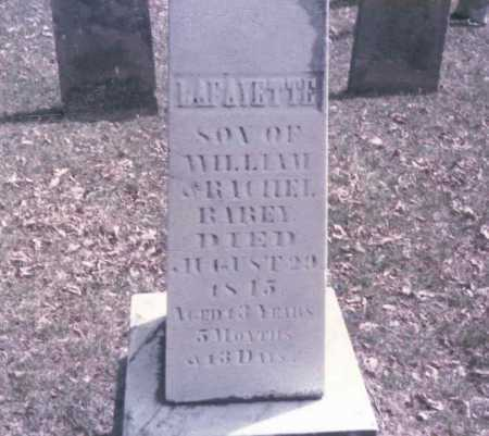RAREY, LAFAYETTE - Franklin County, Ohio | LAFAYETTE RAREY - Ohio Gravestone Photos