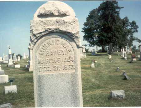 RAREY, MINNIE MAE - Franklin County, Ohio   MINNIE MAE RAREY - Ohio Gravestone Photos