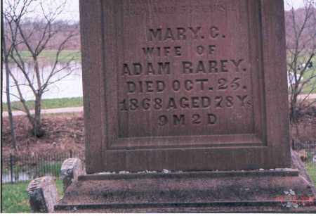 RAREY, MARY CATHARINE - Franklin County, Ohio | MARY CATHARINE RAREY - Ohio Gravestone Photos