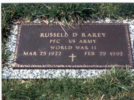 RAREY, RUSSELL D. - Franklin County, Ohio | RUSSELL D. RAREY - Ohio Gravestone Photos