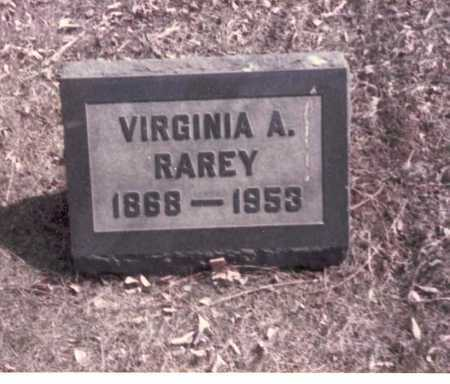 RAREY, VIRGINIA A. - Franklin County, Ohio | VIRGINIA A. RAREY - Ohio Gravestone Photos