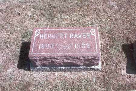 RAVER, HERBERT - Franklin County, Ohio | HERBERT RAVER - Ohio Gravestone Photos