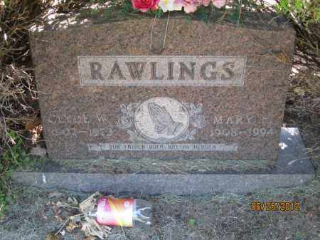 HARMON RAWLINGS, MARY FRANCES - Franklin County, Ohio | MARY FRANCES HARMON RAWLINGS - Ohio Gravestone Photos