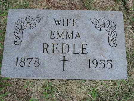 REDLE, EMMA - Franklin County, Ohio | EMMA REDLE - Ohio Gravestone Photos